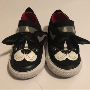 Dog Converse Shoes size 5 toddler